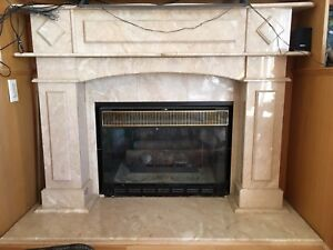 Italian marble fire place frame - real marble