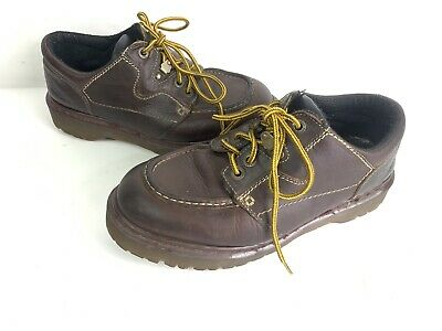 Mens USA 9 DR MARTENS 8457 AIRWAIR Moc Toe Ankle Boots Made in England