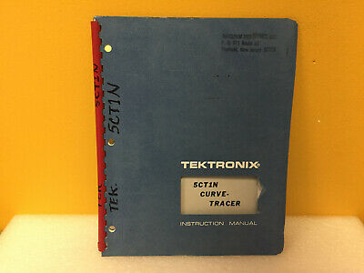 Tektronix 070-1246-00 5ct1n Curve Tracer Instruction Manual