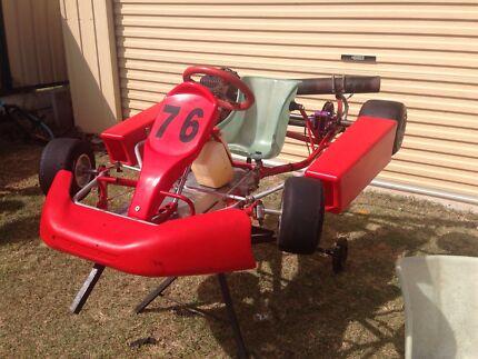 Go Kart, Arrow chassis Clubman kids kart Bellbird Park Ipswich City Preview