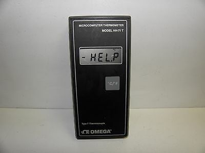 Omega Type T Thermocouple Thermometer Hh-71 T