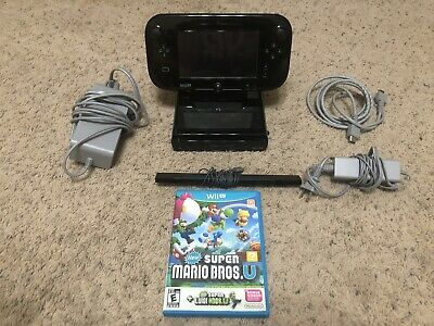 Nintendo Wii U 32GB Console With Mario Game - Tested And Working