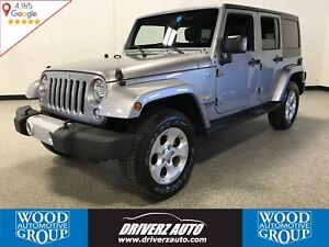 2015 Jeep Wrangler Unlimited Sahara 4X4, REMOTE START, REMOVA...