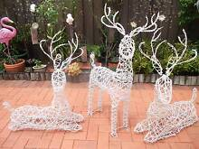 NEW - 3 Crystal Reindeers Yagoona Bankstown Area Preview