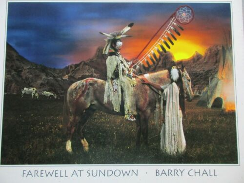 """NATIVE AMERICAN FAREWELL, PRINT POSTER, 20""""X16"""" READY TO FRAME, SD-0921*05868"""