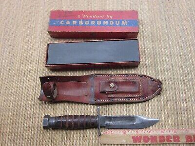 "CAMILLUS VIET NAM ERA UNDATED JET PILOT FIGHTER/SURVIVAL SHEATH KNIFE-4 7/8"" BLD"