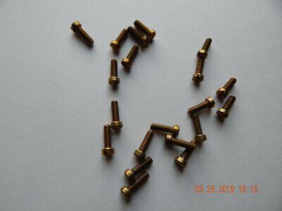 Brass Fillister Head Slotted Machine Screws 832 X 12 25 Pcs. New-nos