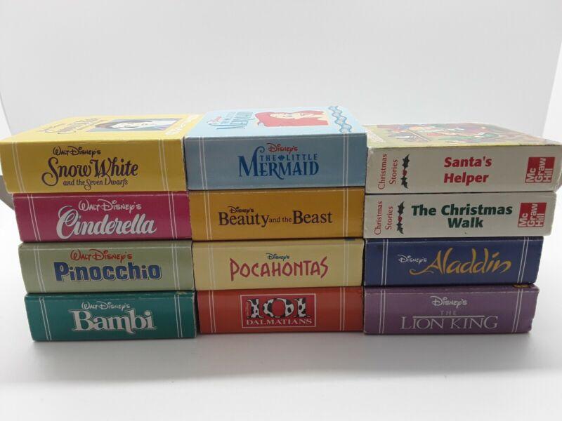 1999 Disney Classics Book Block Set of 10 Mini Board Books + 2 McGraw Hill books