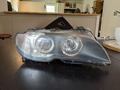 Genuine BMW Pass Side (right) Bi-Xenon, AFS Headlight for Facelift E46 2 Door