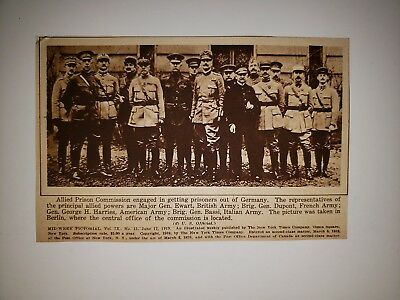 Allied Prison Commission World War I 1918 Mw Pictorial Picture