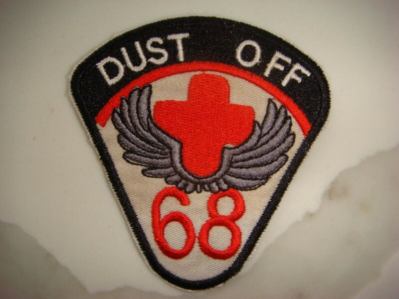 US 68th MEDICAL DETACHMENT DUST OFF, VIETNAM WAR PATCH