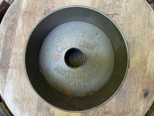 Antique 1920 Katzinger Company Swans Down Cake Flour Angel Food Cake Pan Vented
