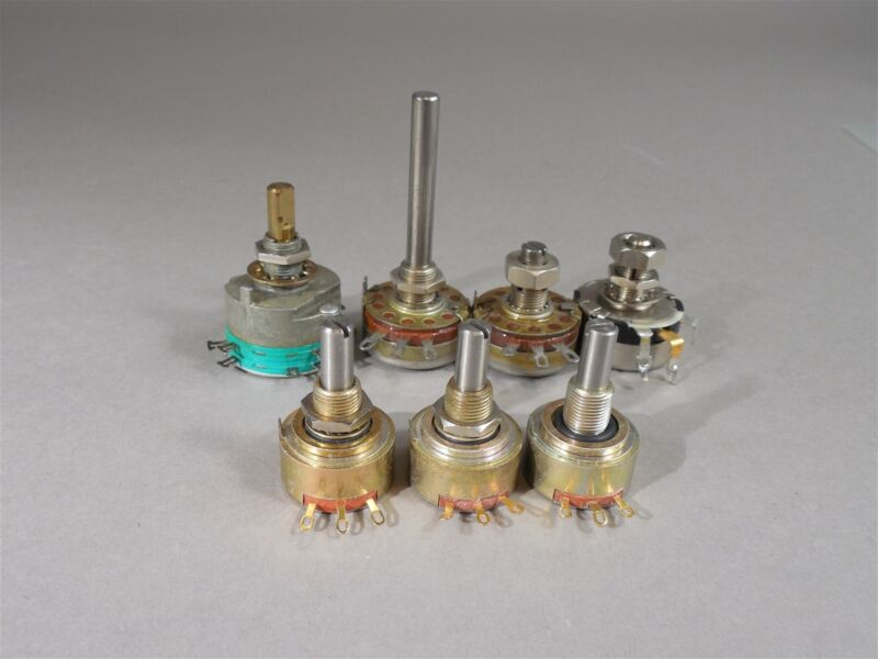 Mixed Lot of 7 Potentiometers Ohmite PEC Pot - NOS