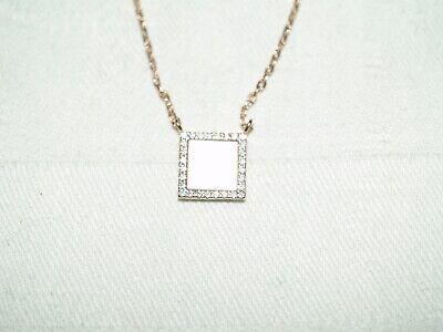 Très beau collier argent doré rose 925/1000 nacre et zircons