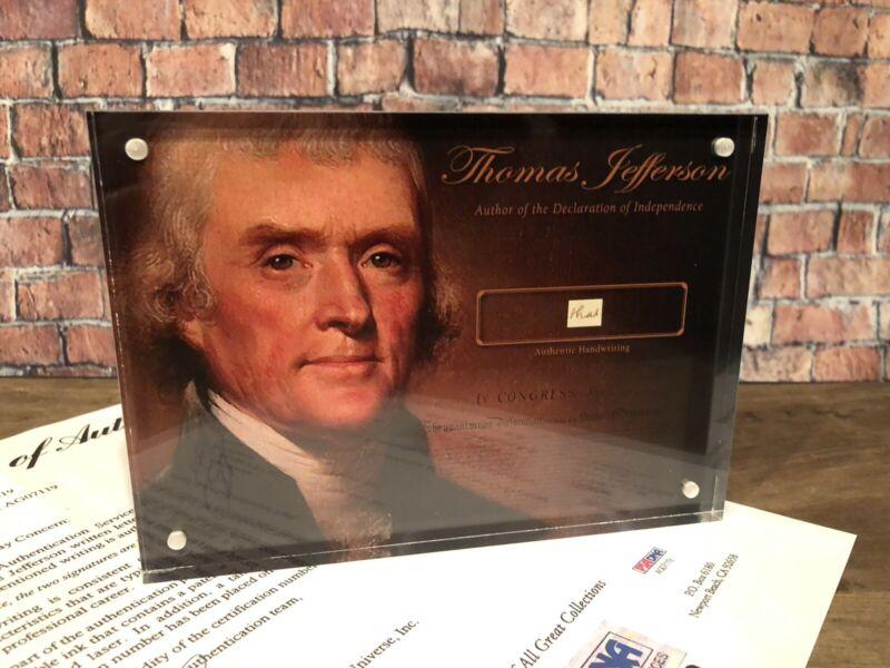 THOMAS JEFFERSON SIGNED HANDWRITTEN 1812 PSA/DNA HISTORIC