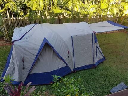 8 Person Oztrail Tent & Stockman Weekender) 8 Man Tent (2 room) | Camping u0026 Hiking ...