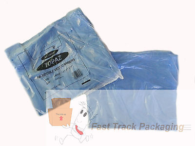 3000 x Quality Blue Plastic Vest Carrier Bags Large 11x17x21
