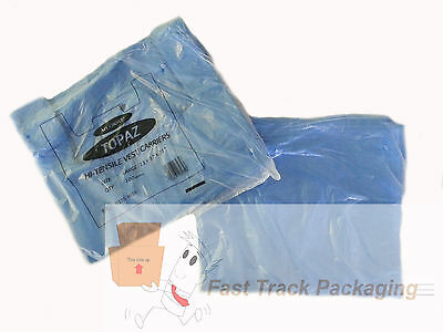 200 x Quality Blue Plastic Vest Carrier Bags Large 11x17x21