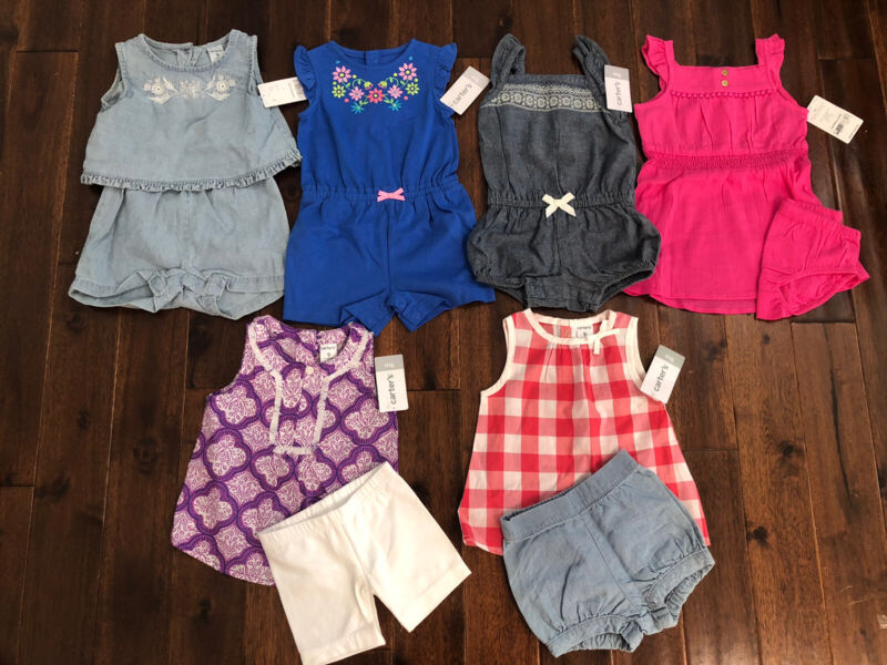 8 Piece Lot Of Baby Girl Summer Clothes Size 9 Months NWT