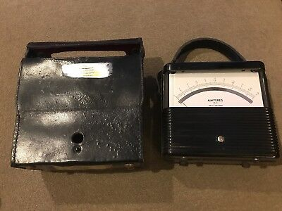 Vintage Weston Amperes D.c. Meter Model 901 No. 88487 With Case Td