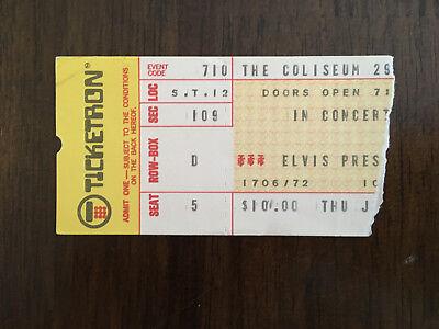 Authentic 1975 Elvis Presley concert ticket stub wth Certificate of Authenticity