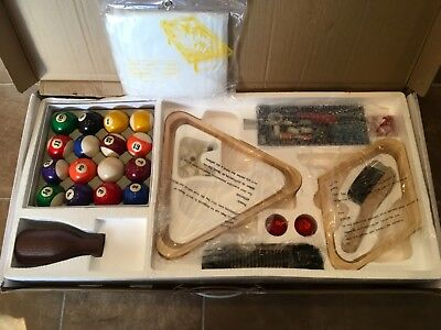 Pool Cue Billiard Stick Accessories Kit 32-piece Premium Ball Set Triangle Rack