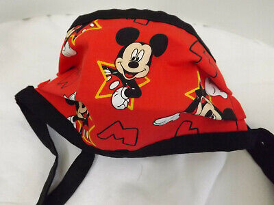Home Made Tie Face Mask Disney Mickey Mouse  70F