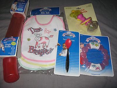 Bibs Rattle Teether Feeding Spoon Angle Bottles Baby Pink Me