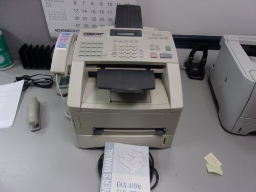 BROTHER IND., 4100e business class fax machine.