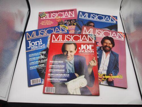 Lot 5 Musician Magazines 1982-84 Joe Jackson, Seger, Metal, Neil Young, Mitchell