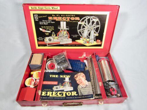 Vintage Erector Set No. 8 1/2 Circa 1950 A.C. Gilbert Co. Ferris Wheel with Case