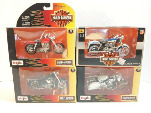 Harley-Davidson Maisto 1:18 Scale Die-Cast Motorcycles NIB Set of 4 -