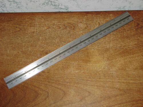 STARRETT 300mm SLOTTED STEEL RULE - NO 36 GRAD - NEVER USED