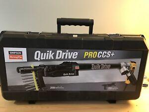 Simpson Quick Drive With Dewalt Gun