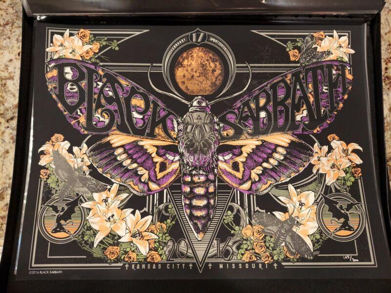 Black Sabbath Kansas City The END Tour Poster Rare #103/300 February 17 2016