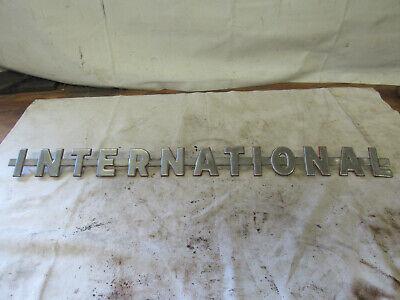 International 350 300 Utility Ihc Tractor Original Chrome Hood Emblem