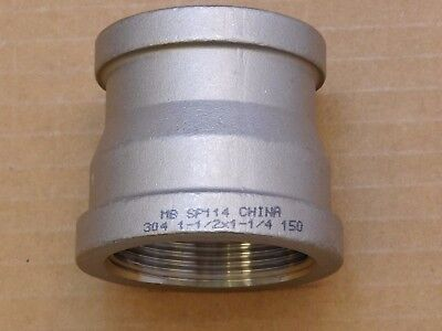 1-12 X 1-14 Straight Reducer 304 Stainless Steel Ss Class 150 Npt
