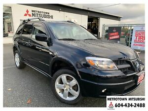 2006 Mitsubishi Outlander Limited; Local BC vehicle! LOW KMS!