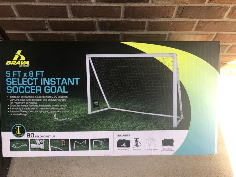 Brava 5ft x 8ft Select Instant Inflatible Soccer Goal -Carry Bag, Air Pump, Inc.