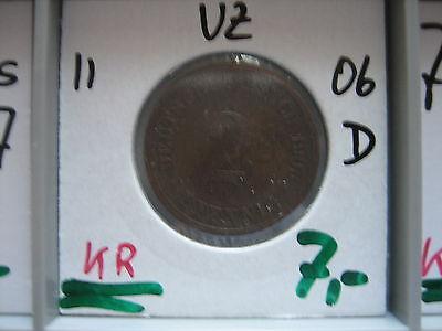 J 11   2 Pfennig  1906 D in VZ