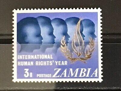 Zambia 1968 Human Rights Year SG 142 MNH