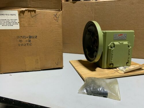 Grove Gear BMQ262-10-2-182TC Worm Gear Speed Reducer LH 10:1 Ratio 3.1 Output HP
