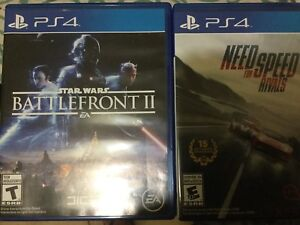 Battlefront II Star Wars PS4 Need for Speed Rivals