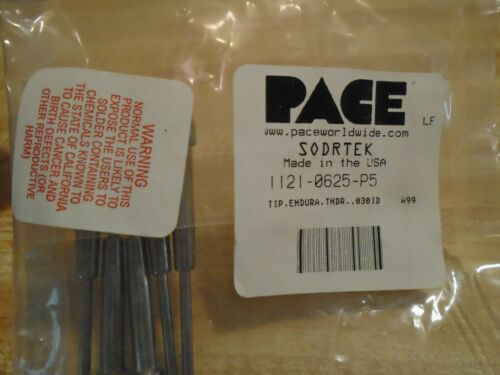 Pace 1121-0625-p5 Soldering Tips 5 Pc.