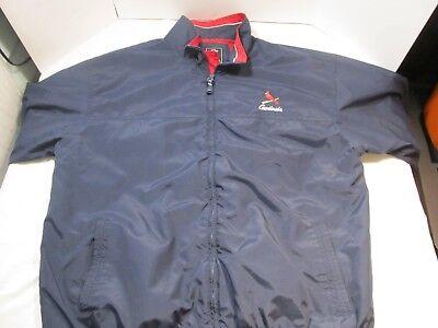 ST. LOUIS CARDINALS Gear For Sports Zip up Windbreaker Jacket L Men's Large (St Louis Cardinals Gear)