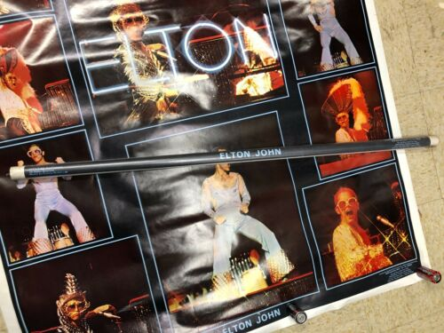 ELTON JOHN POSTER FACTORY SEALED ONE STOP POSTERS 1974 HUGE! 5 FOOTER
