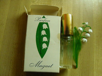 Vintage Muguet Bottle and Box with Lilies of the Valley