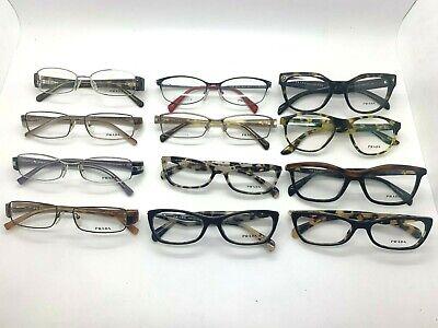 12 Prada Unisex WHOLESALE LOT Black  Green grey Tortoise Cateye eyeglasses (Wholesale Prescription Glasses)