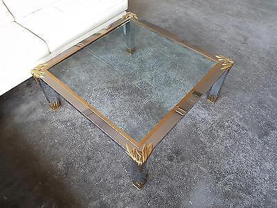 Exquisiter Design-Tisch Glas/Chrom vergoldete Bronze Romeo Rega ?