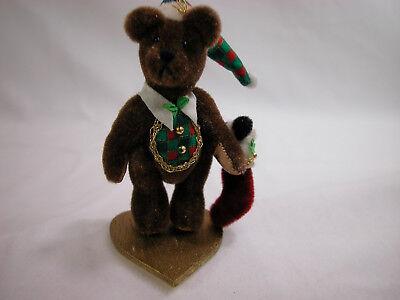 World Of Miniature Bears Dollhouse Miniature Plush Bear Wolly #612 Closeout